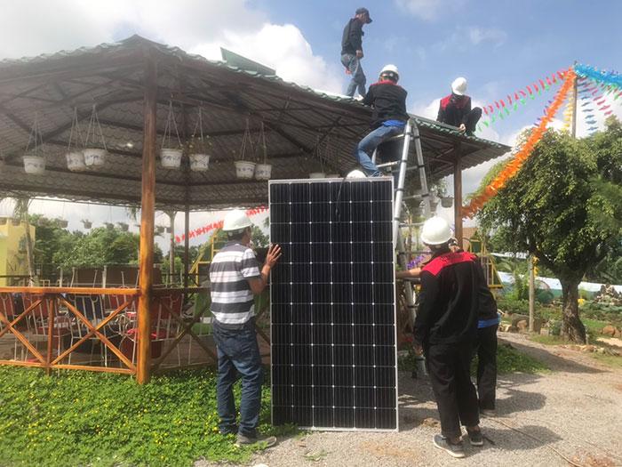 Lắp đặt hệ thống 12KW cho một Homestay ở Đồng Nai 3