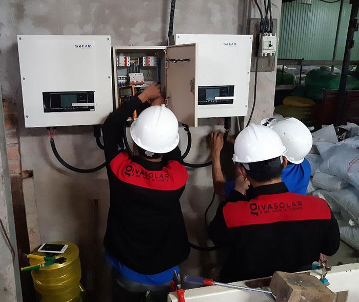 Lắp đặt hệ thống 20KW cho Nhà máy sản xuất bao bì ni lông ở Bình Chánh 16