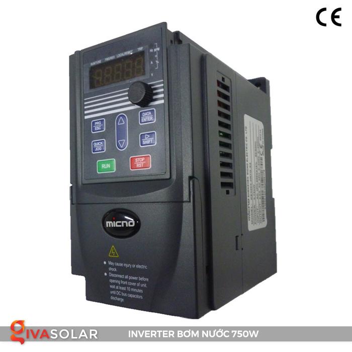 Biến tần cho hệ thống bơm nước điện mặt trời 750W 1