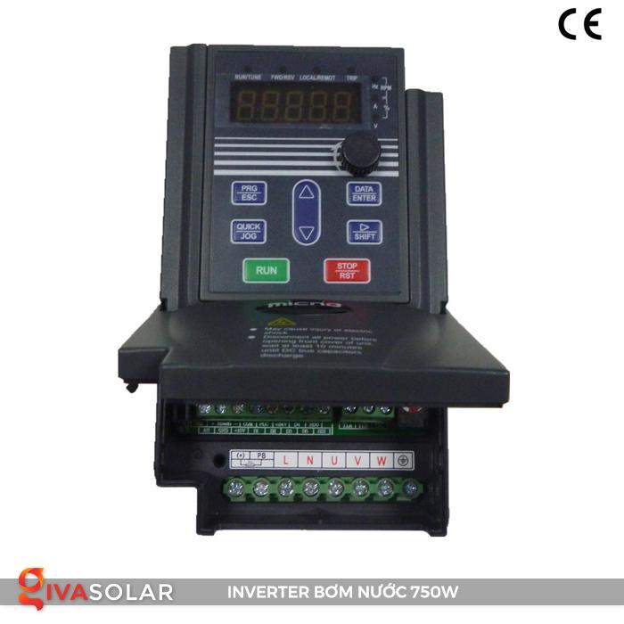 Biến tần cho hệ thống bơm nước điện mặt trời 750W 2