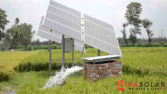 Hệ thống bơm nước điện năng lượng mặt trời 7HP 2