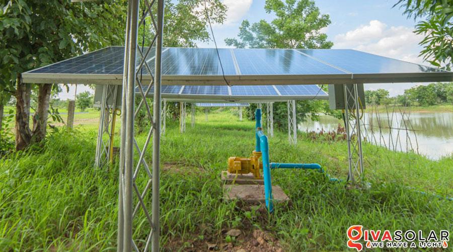 Hệ thống bơm nước điện năng lượng mặt trời 7HP 4