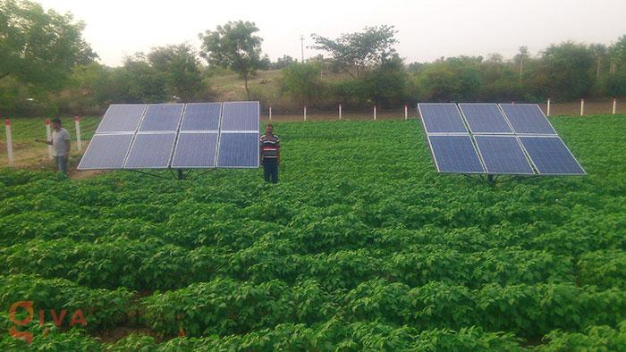 Hệ thống bơm nước điện năng lượng mặt trời 7HP 1