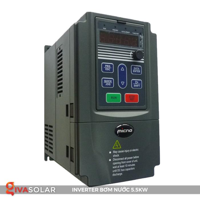 Inverter cho hệ thống bơm nước mặt trời 5.5kw 1