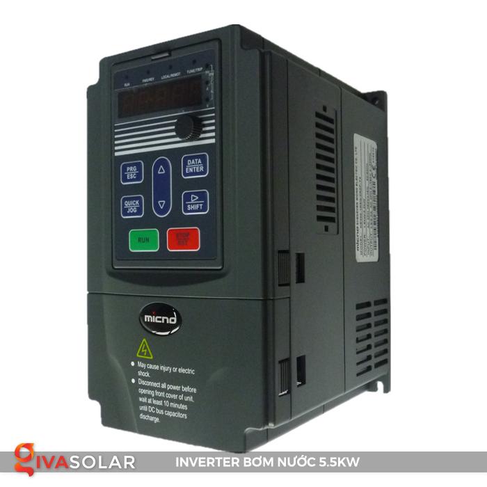 Inverter cho hệ thống bơm nước mặt trời 5.5kw 3