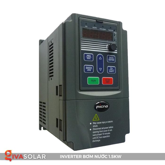 Inverter hệ thống bơm nước điện mặt trời 1.5kw 3