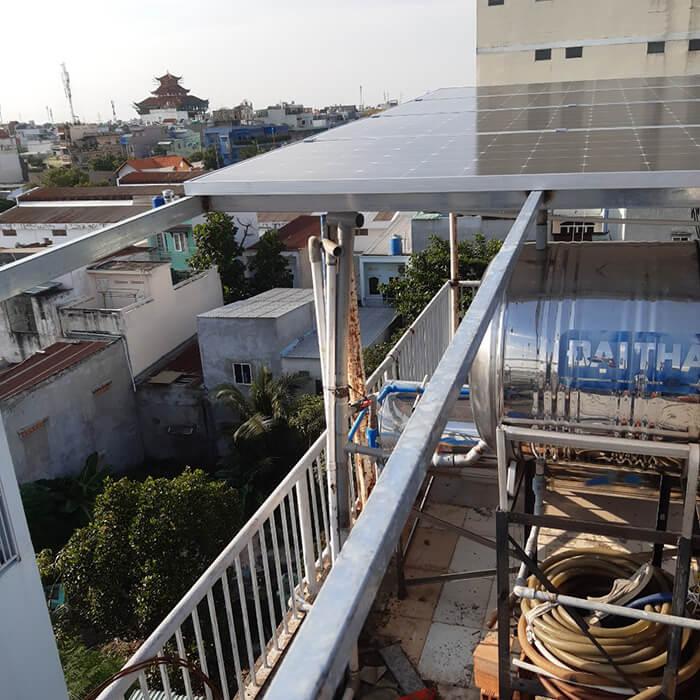 Hoàn thành lắp đặt hệ thống Áp mái 4KW tại Bình Tân 1