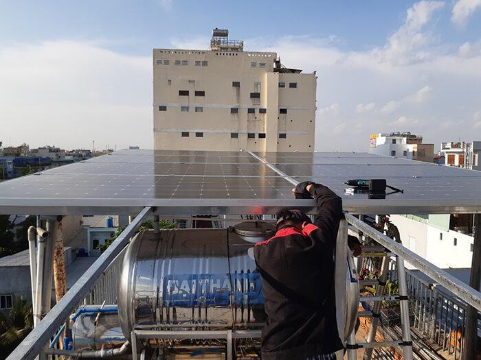 Hoàn thành lắp đặt hệ thống Áp mái 4KW tại Bình Tân 2