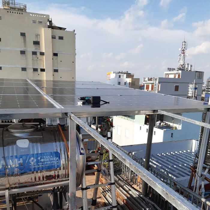 Hoàn thành lắp đặt hệ thống Áp mái 4KW tại Bình Tân 3