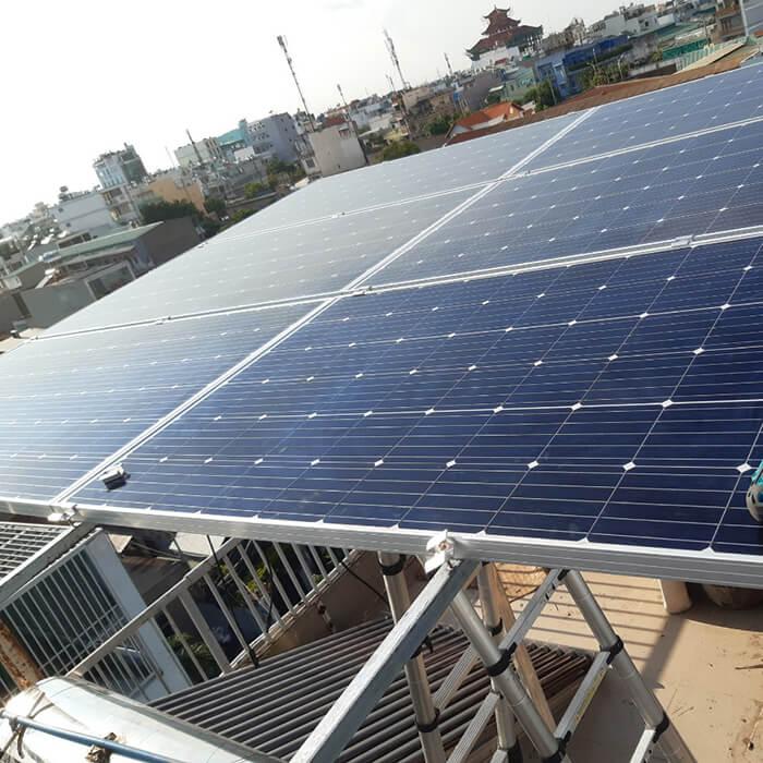 Hoàn thành lắp đặt hệ thống Áp mái 4KW tại Bình Tân 4