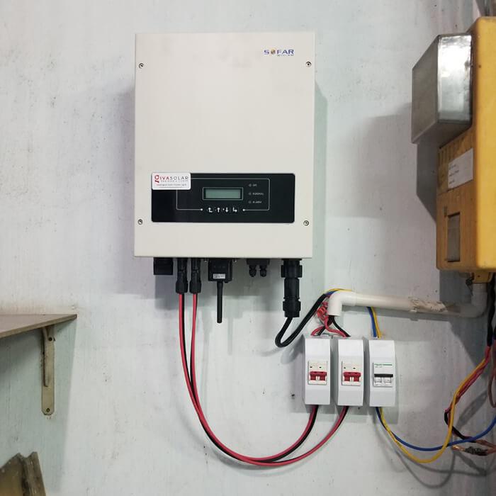Hoàn thành lắp đặt hệ thống Áp mái 4KW tại Bình Tân 5