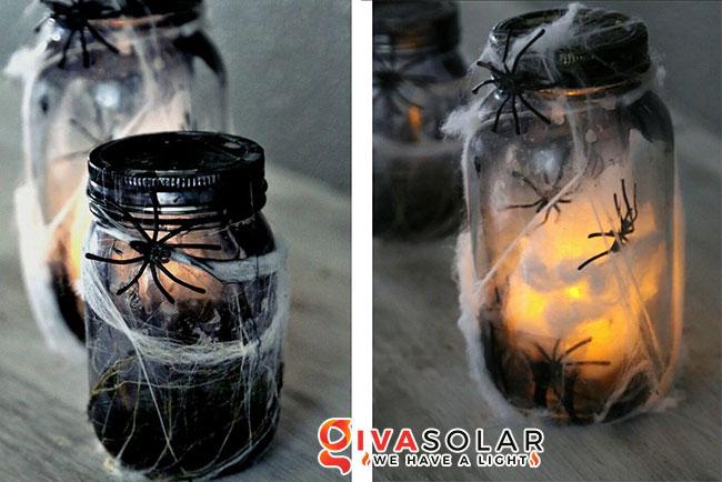 Ý tưởng trang trí Halloween độc đáo với lọ thủy tinh 12