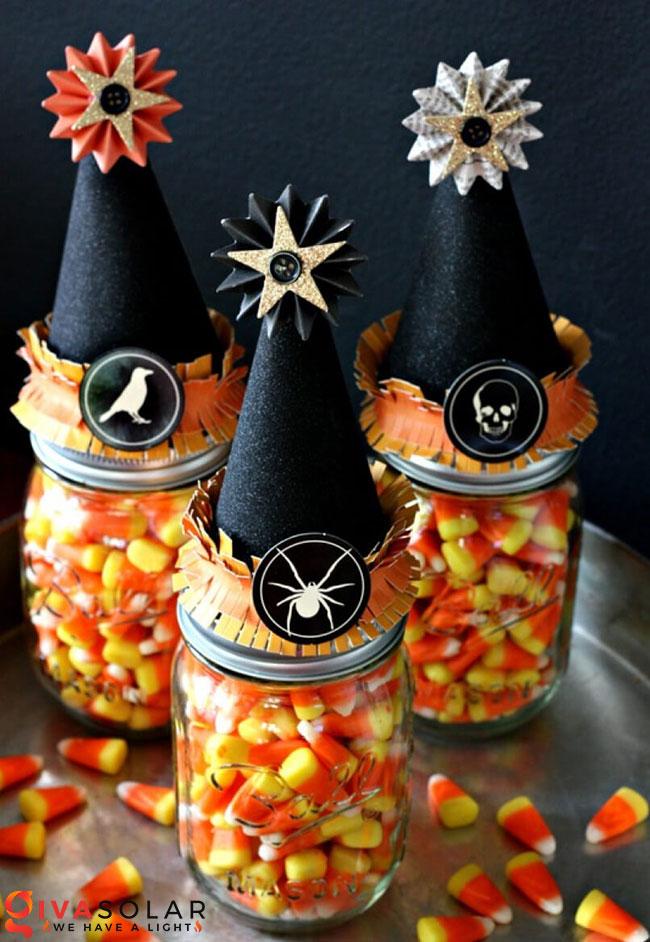 Ý tưởng trang trí Halloween độc đáo với lọ thủy tinh 15
