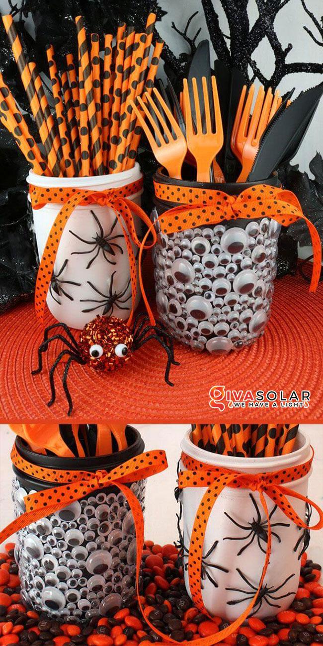 Ý tưởng trang trí Halloween độc đáo với lọ thủy tinh 7