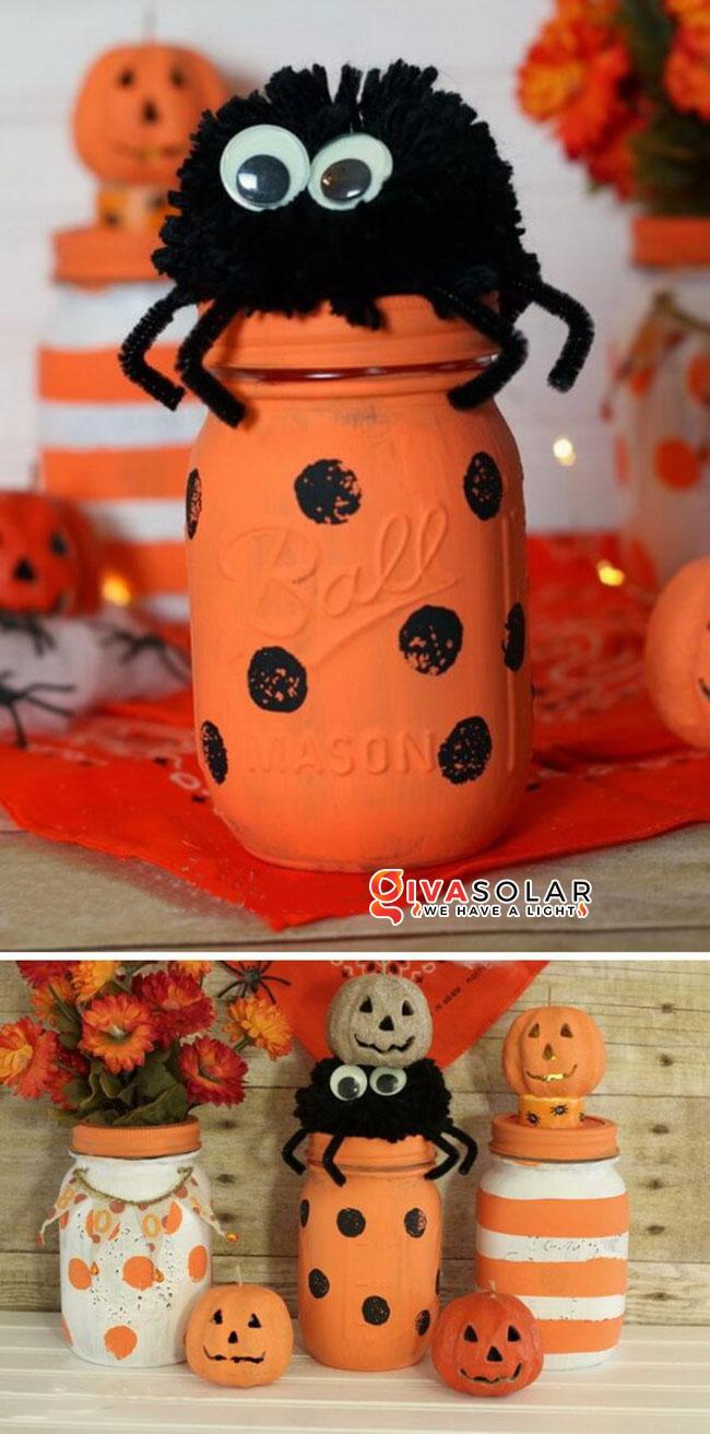 Ý tưởng trang trí Halloween độc đáo với lọ thủy tinh 9