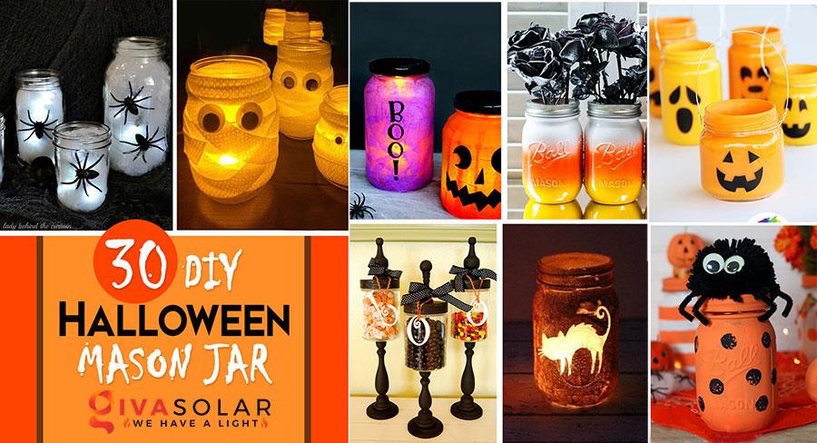 30 Ý tưởng trang trí Halloween độc đáo với lọ thủy tinh