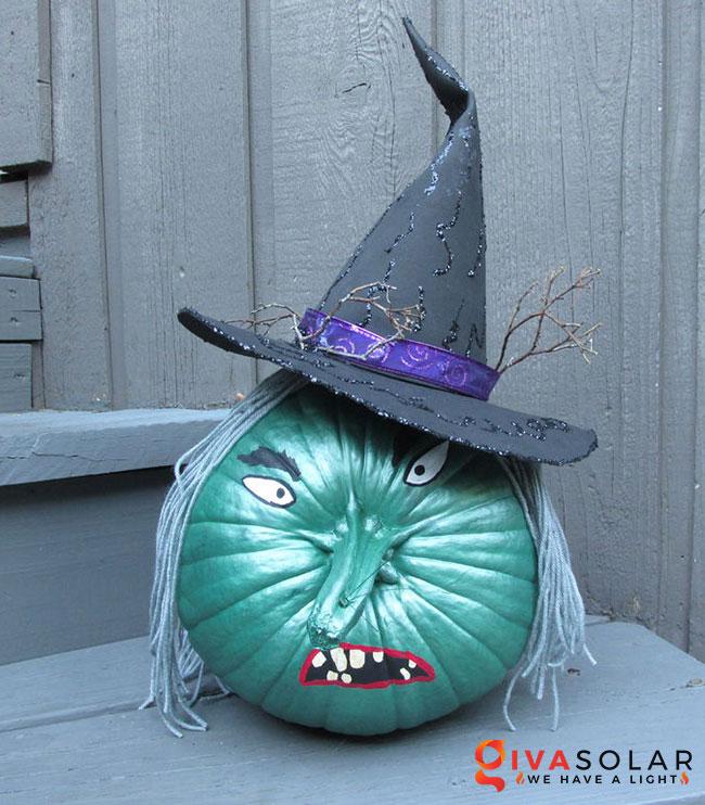 ý tưởng trang trí và khắc bí ngô đáo đáo cho lễ Halloween 13