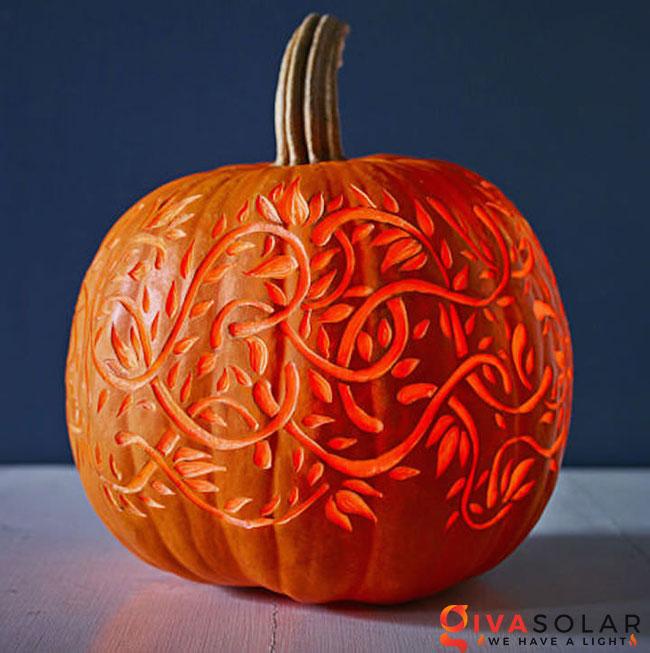 ý tưởng trang trí và khắc bí ngô đáo đáo cho lễ Halloween 15