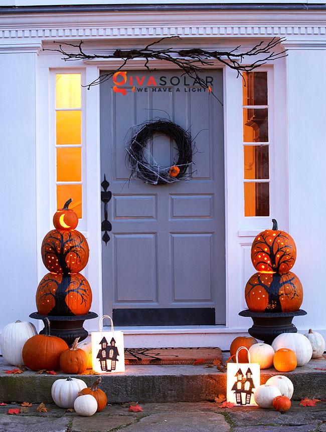 ý tưởng trang trí và khắc bí ngô đáo đáo cho lễ Halloween 16