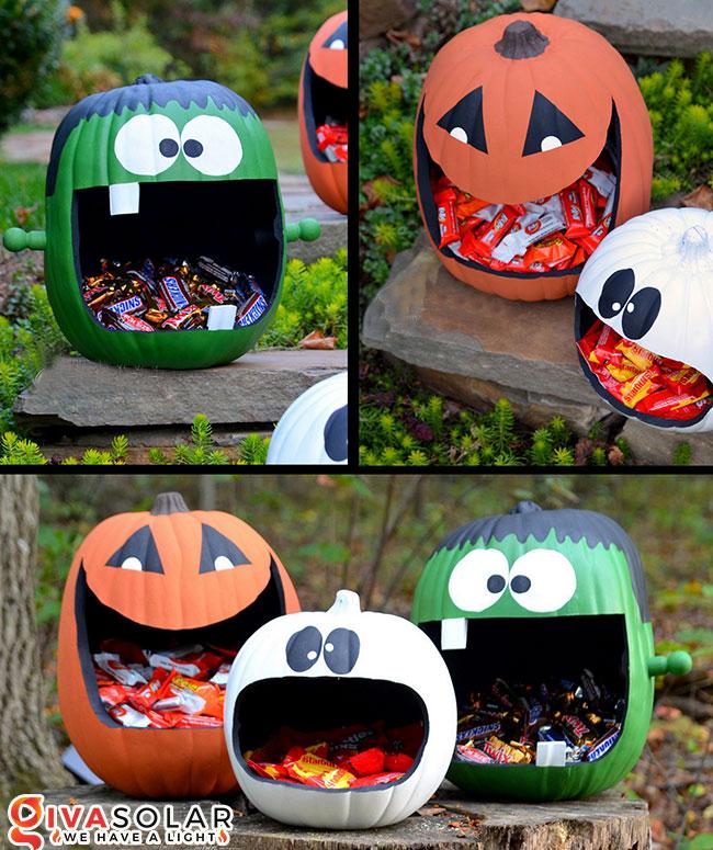ý tưởng trang trí và khắc bí ngô đáo đáo cho lễ Halloween 18