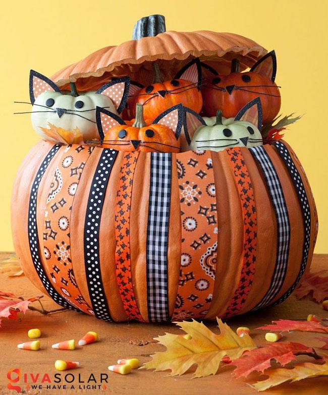 ý tưởng trang trí và khắc bí ngô đáo đáo cho lễ Halloween 20