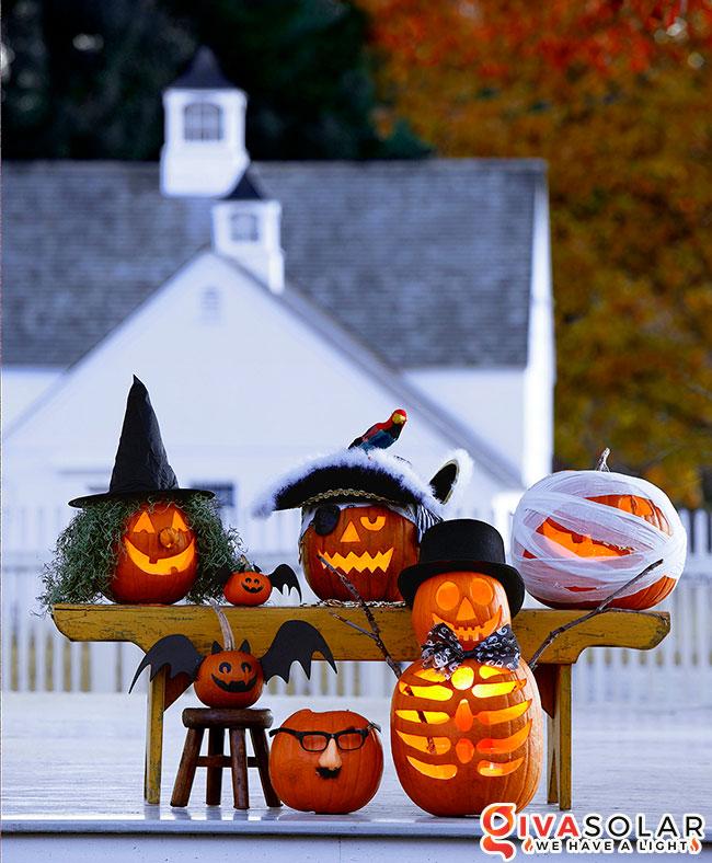 ý tưởng trang trí và khắc bí ngô đáo đáo cho lễ Halloween 38
