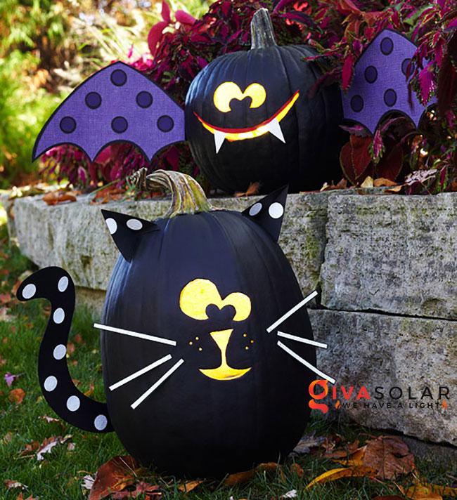 ý tưởng trang trí và khắc bí ngô đáo đáo cho lễ Halloween 4