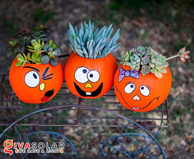 ý tưởng trang trí và khắc bí ngô đáo đáo cho lễ Halloween 45