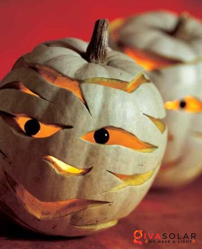 ý tưởng trang trí và khắc bí ngô đáo đáo cho lễ Halloween 48