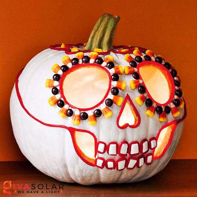 ý tưởng trang trí và khắc bí ngô đáo đáo cho lễ Halloween 50