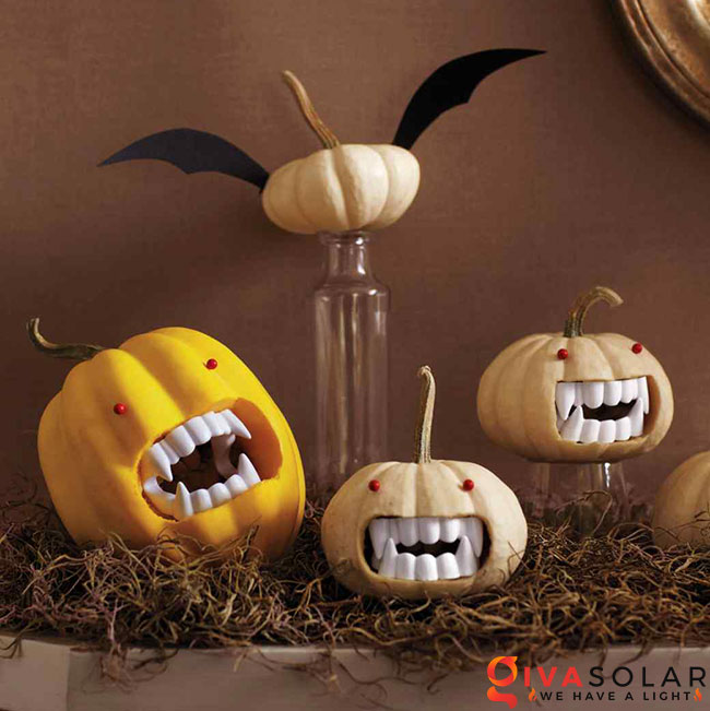 ý tưởng trang trí và khắc bí ngô đáo đáo cho lễ Halloween 7