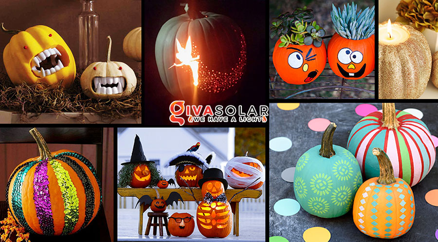ý tưởng trang trí và khắc bí ngô đáo đáo cho lễ Halloween