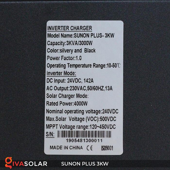 Biến tần năng lượng mặt trời SUNON PLUS 3KW 14