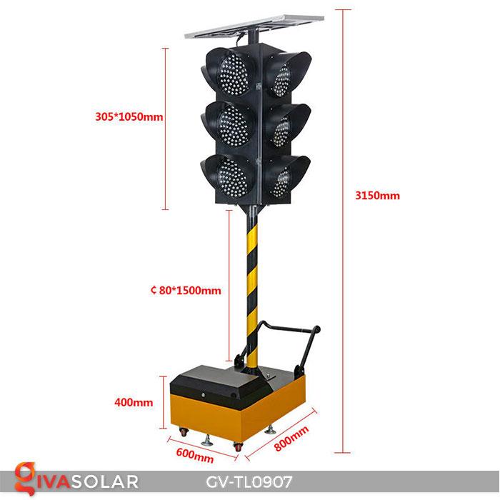 Đèn báo giao thông năng lượng mặt trời GV-TL0907 1