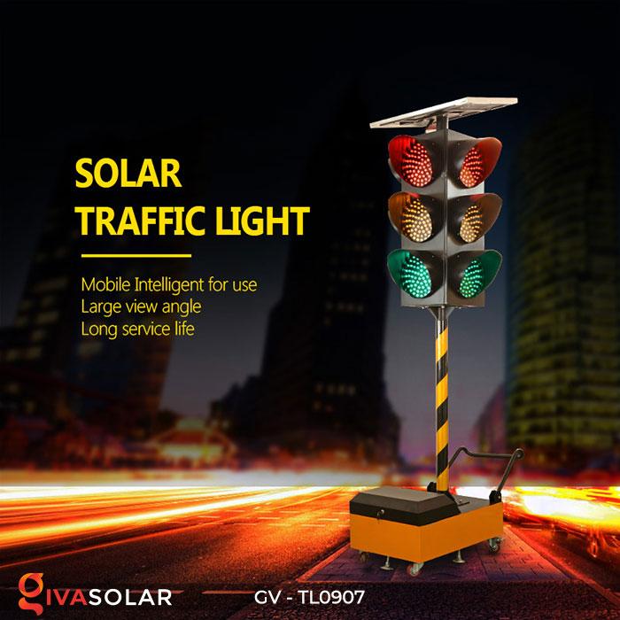Đèn báo giao thông năng lượng mặt trời GV-TL0907 2