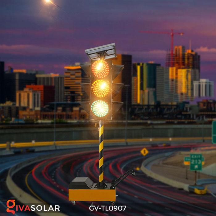 Đèn báo giao thông năng lượng mặt trời GV-TL0907 3