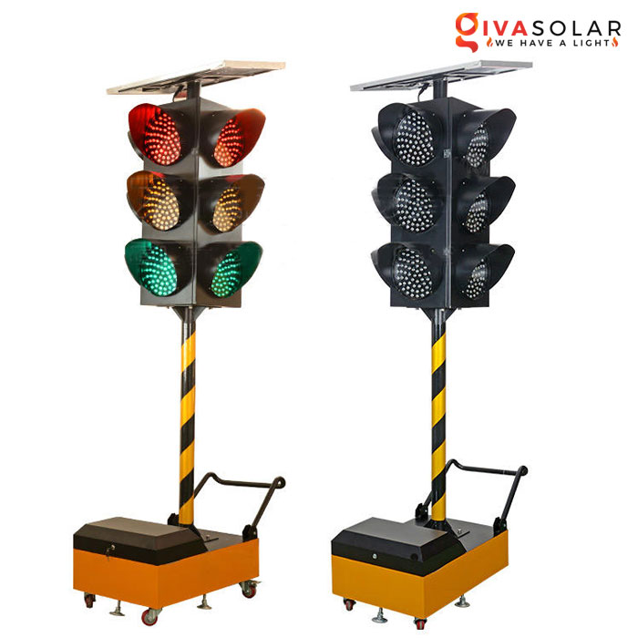 Đèn báo giao thông năng lượng mặt trời GV-TL0907