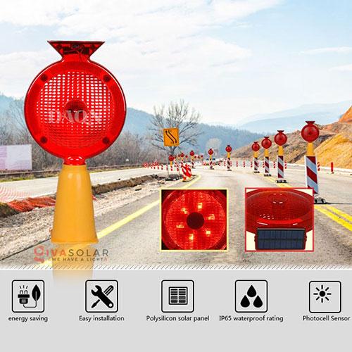 Đèn cảnh báo giao thông năng lượng mặt trời