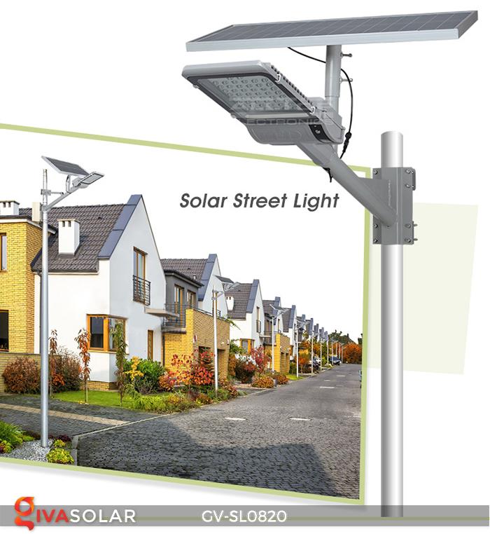 Đèn chiếu sáng đường năng lượng mặt trời GV-SL0820 1