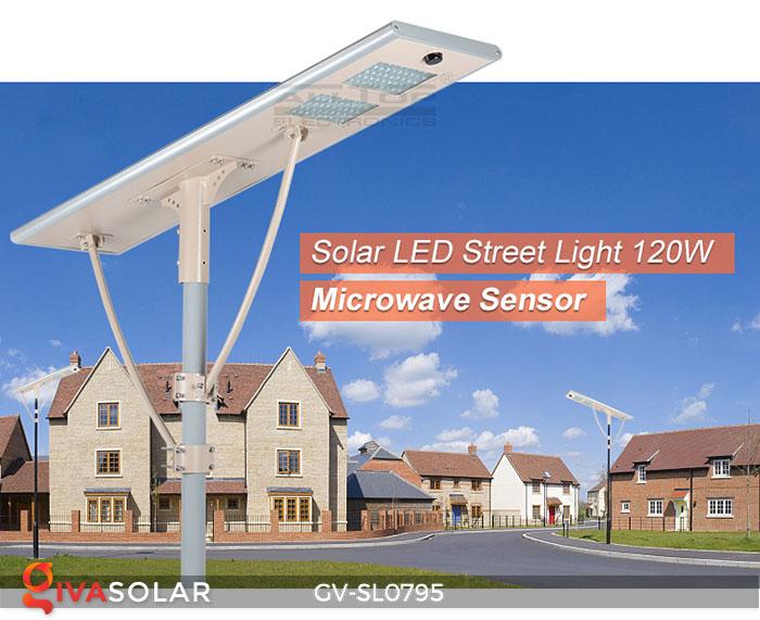Đèn đường LED chạy năng lượng mặt trời GV-SL0795 1