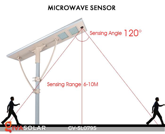 Đèn đường LED chạy năng lượng mặt trời GV-SL0795 8