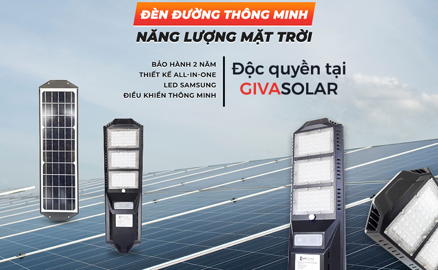 đèn đường thông minh năng lượng mặt trời
