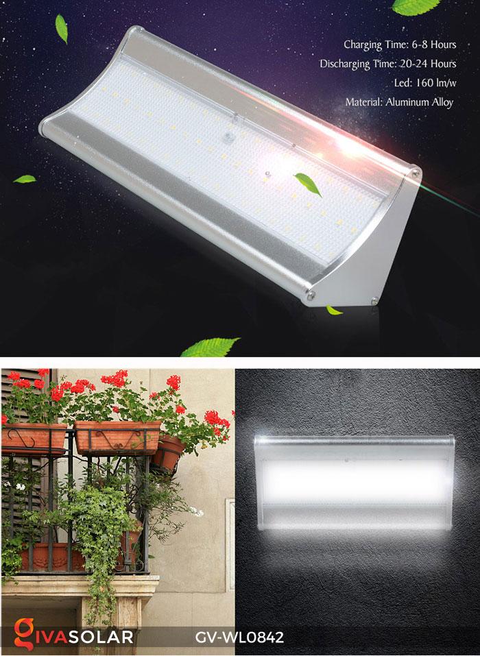 Đèn gắn tường năng lượng mặt trời GV-wL0842 1