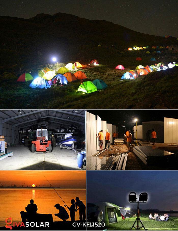 Đèn LED pha sạc công suất lớn GV-KFL1520 21