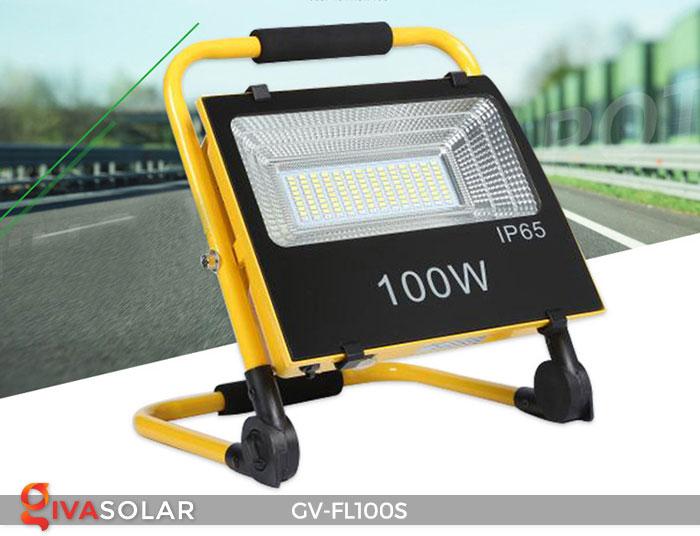 Đèn pha đa năng chạy năng lượng mặt trời GV-FL100S 1