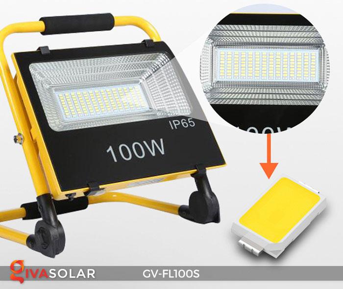 Đèn pha đa năng chạy năng lượng mặt trời GV-FL100S 16