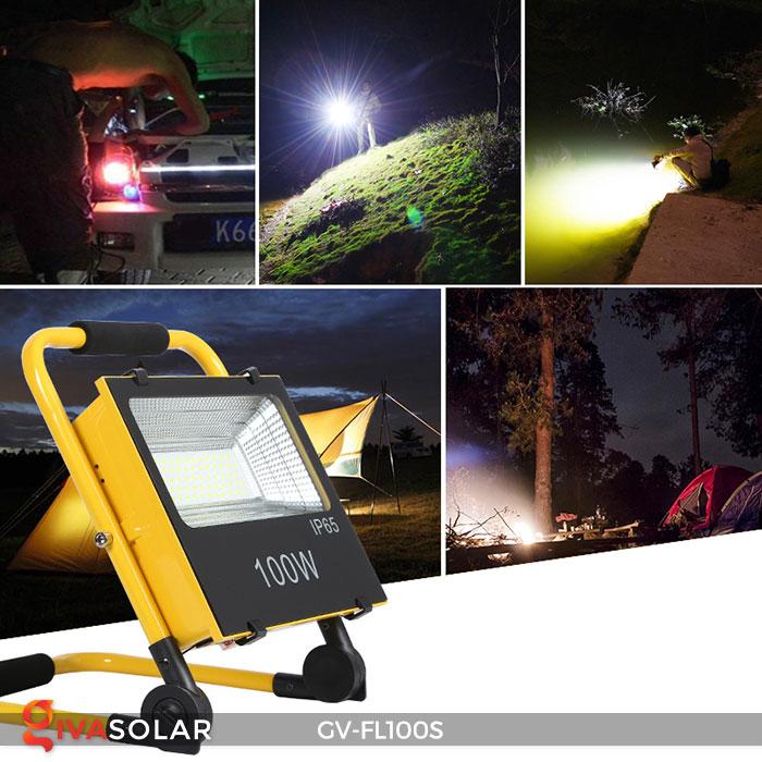 Đèn pha đa năng chạy năng lượng mặt trời GV-FL100S 19