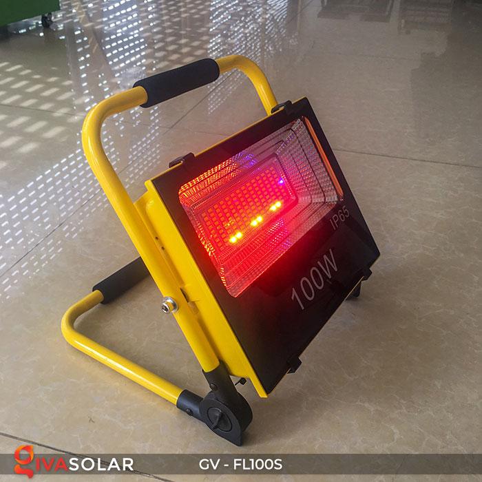 Đèn pha đa năng chạy năng lượng mặt trời GV-FL100S 9