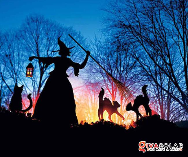ý tưởng trang trí Halloween ngoài trời 11