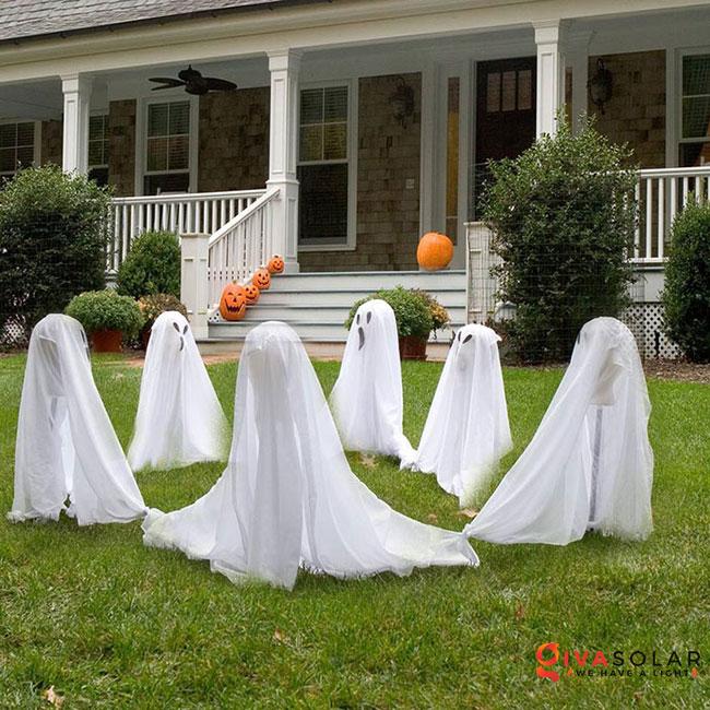 ý tưởng trang trí Halloween ngoài trời 12